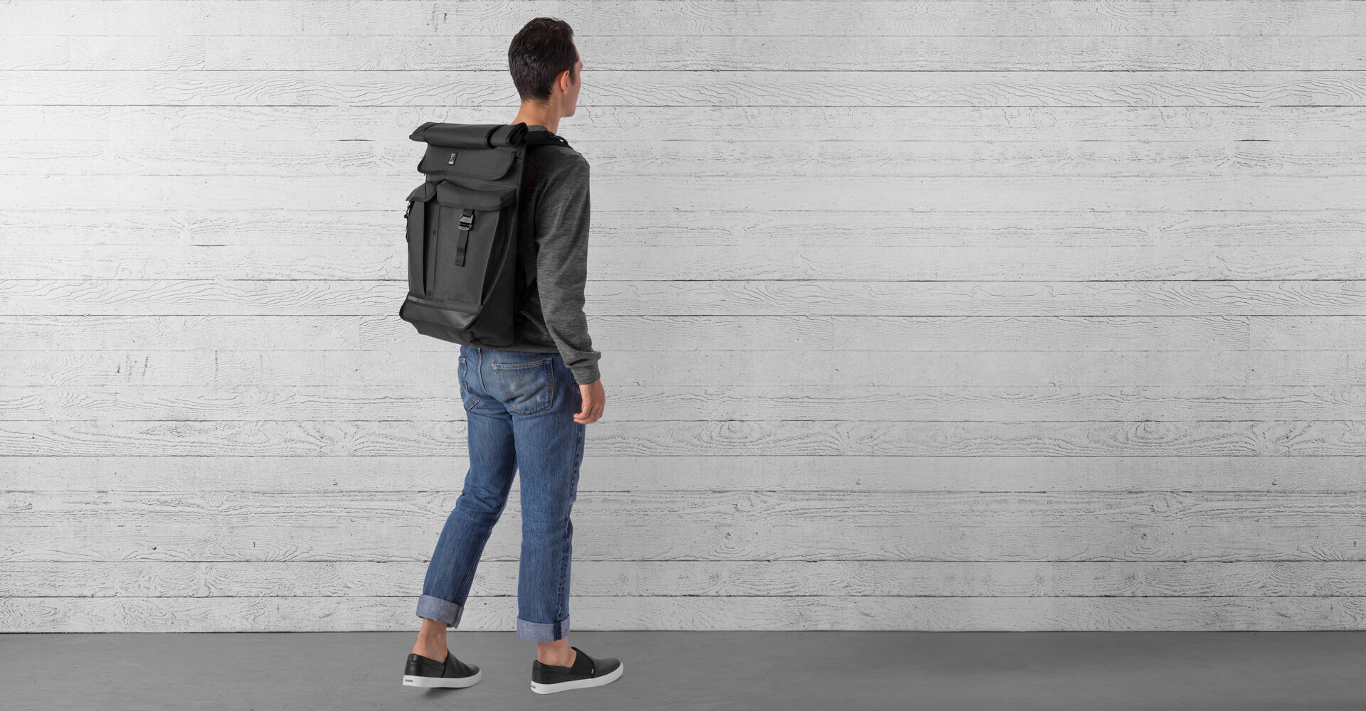 Orlov 2.0 Backpack in All Black - wide view.