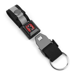 Mini Buckle Key Chain in Black / Black - hi-res view.