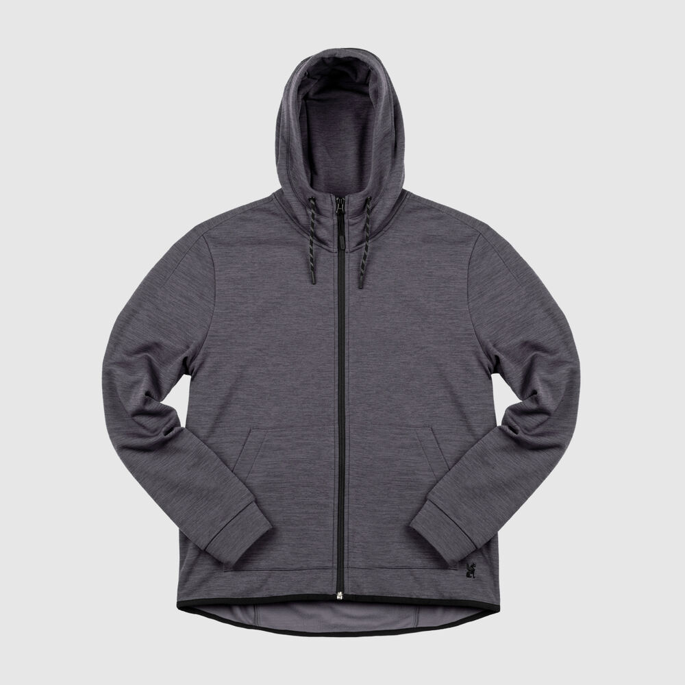 Stark Tech Fleece Hoodie in Gargoyle Grey - large view.