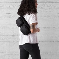 MXD Notch Sling Bag in All Black - small view.