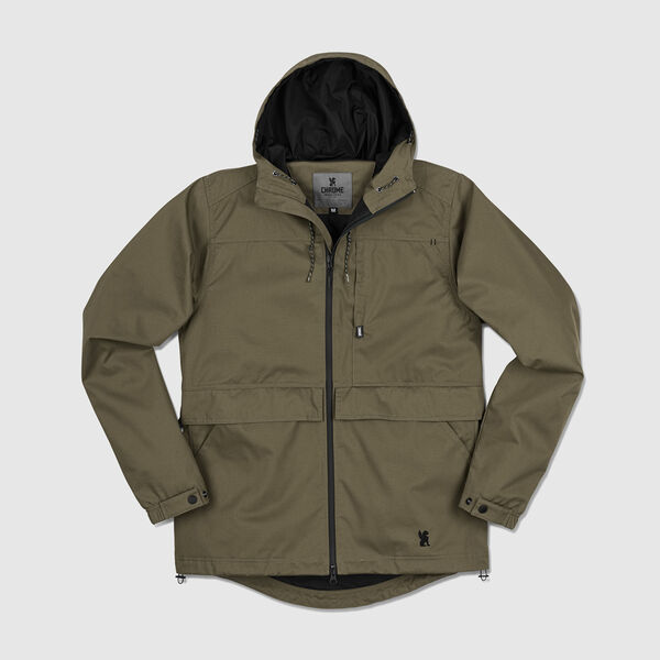 Skyline Windcheater Jacket in Military Olive - medium view.