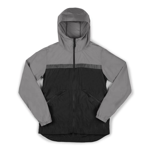 Packable Kenton Windshell Jacket in Castle Rock / Black - hi-res view.