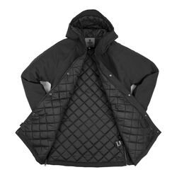 Storm Insulated Parka in Black - large view.