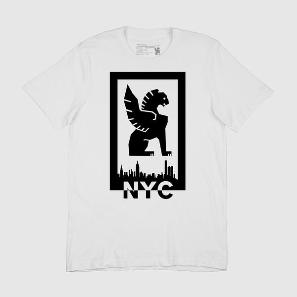 Cityscape Tee in NYC / White - medium view.