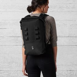 Urban Ex Rolltop 18L Backpack in Black - large view.