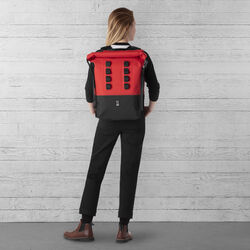 Urban Ex Rolltop 28L Backpack in Red / Black - wide-hi-res view.