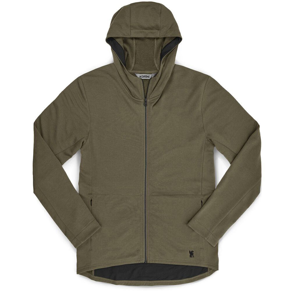 Merino Cobra Hoodie 2.0 in Olive Leaf - hi-res view.