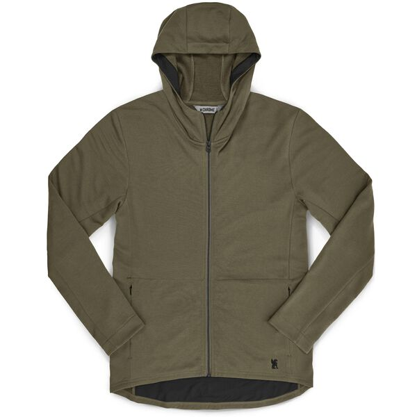 Merino Cobra Hoodie 2.0 in Olive Leaf - medium view.