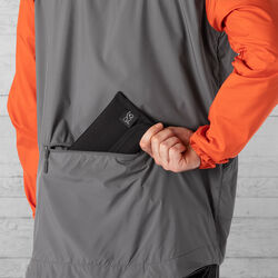 Packable Kenton Windshell Jacket in Mecca Orange / Castle Rock - hi-res view.