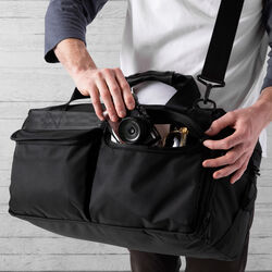 Surveyor Duffle Bag in All Black - wide-hi-res view.