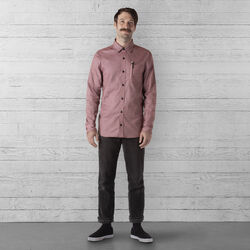 Stretch Chambray Workshirt in Andorra / Dune - wide-hi-res view.