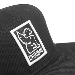 Baseball Cap in Black / White - hi-res view.
