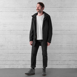 Stanton Rain Trench Jacket in Black - wide-hi-res view.