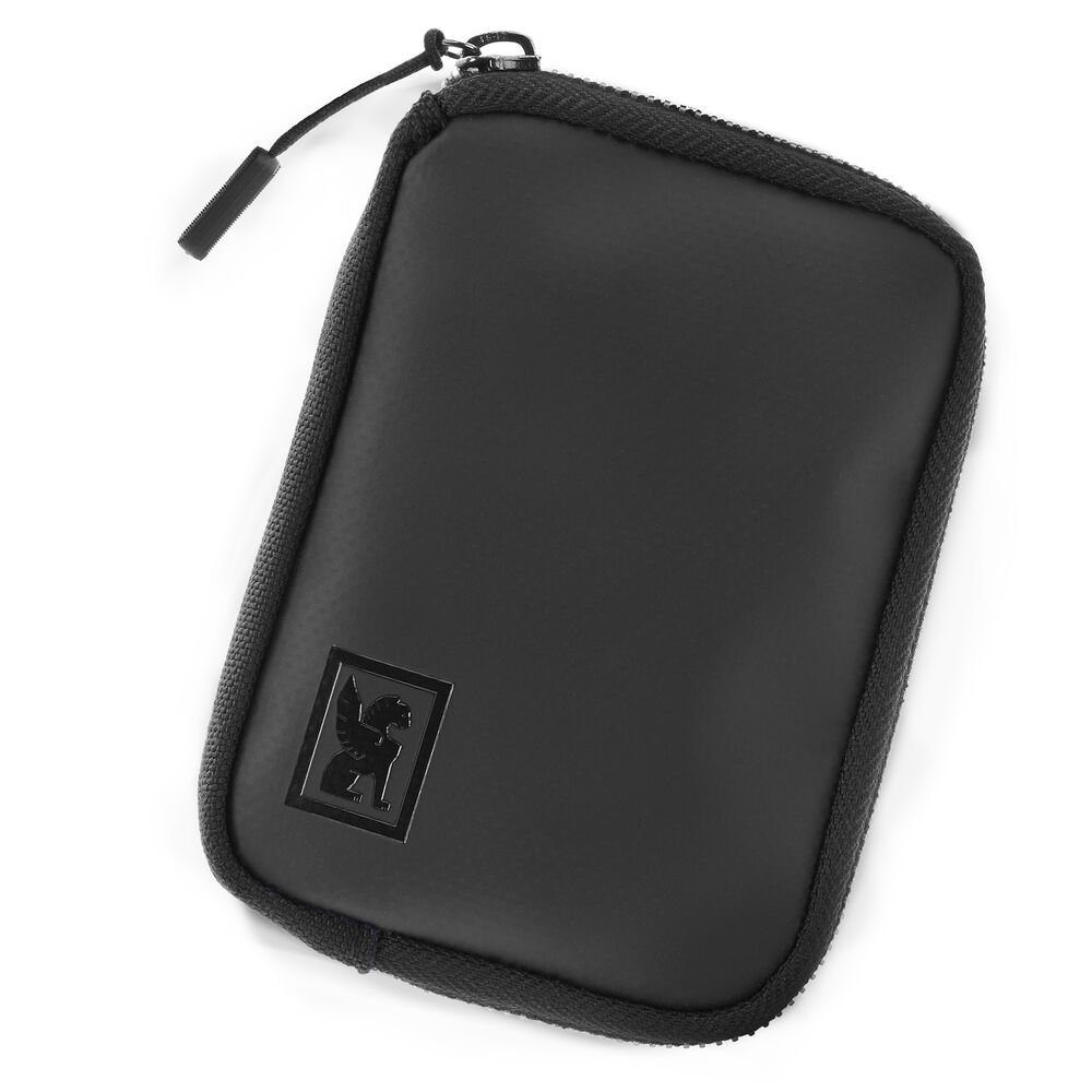 Zip Wallet in Black - large view.