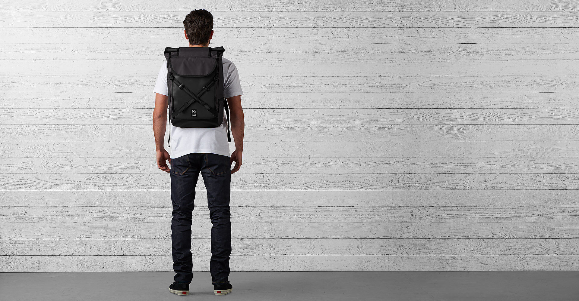 The Welterweight Bravo 2.0 Backpack in Charcoal / Black - wide view.