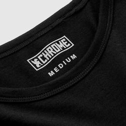 Merino Long Sleeve Tee in Black  - small view.