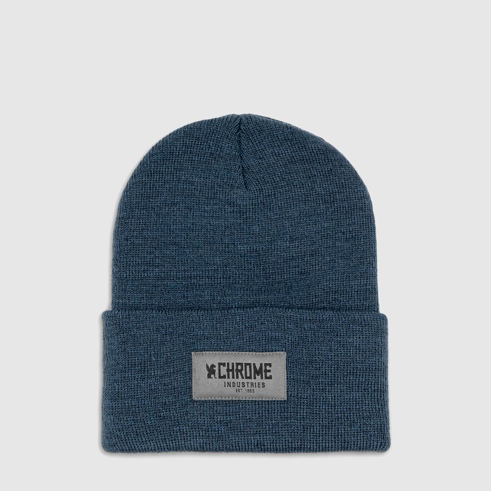 Chrome 1995 Beanie in Navy Heather - large view.
