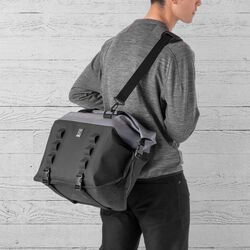 Urban Ex Rolltop 40L Tote Bag in Grey / Black - small view.