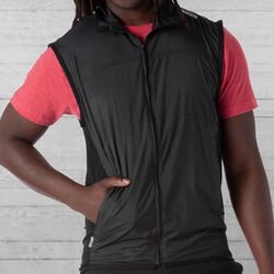 DKLEIN Zip Wind Vest in Black - hi-res view.
