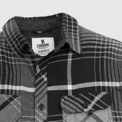 Woven Workshirt in Charcoal / Black Plaid - small view.