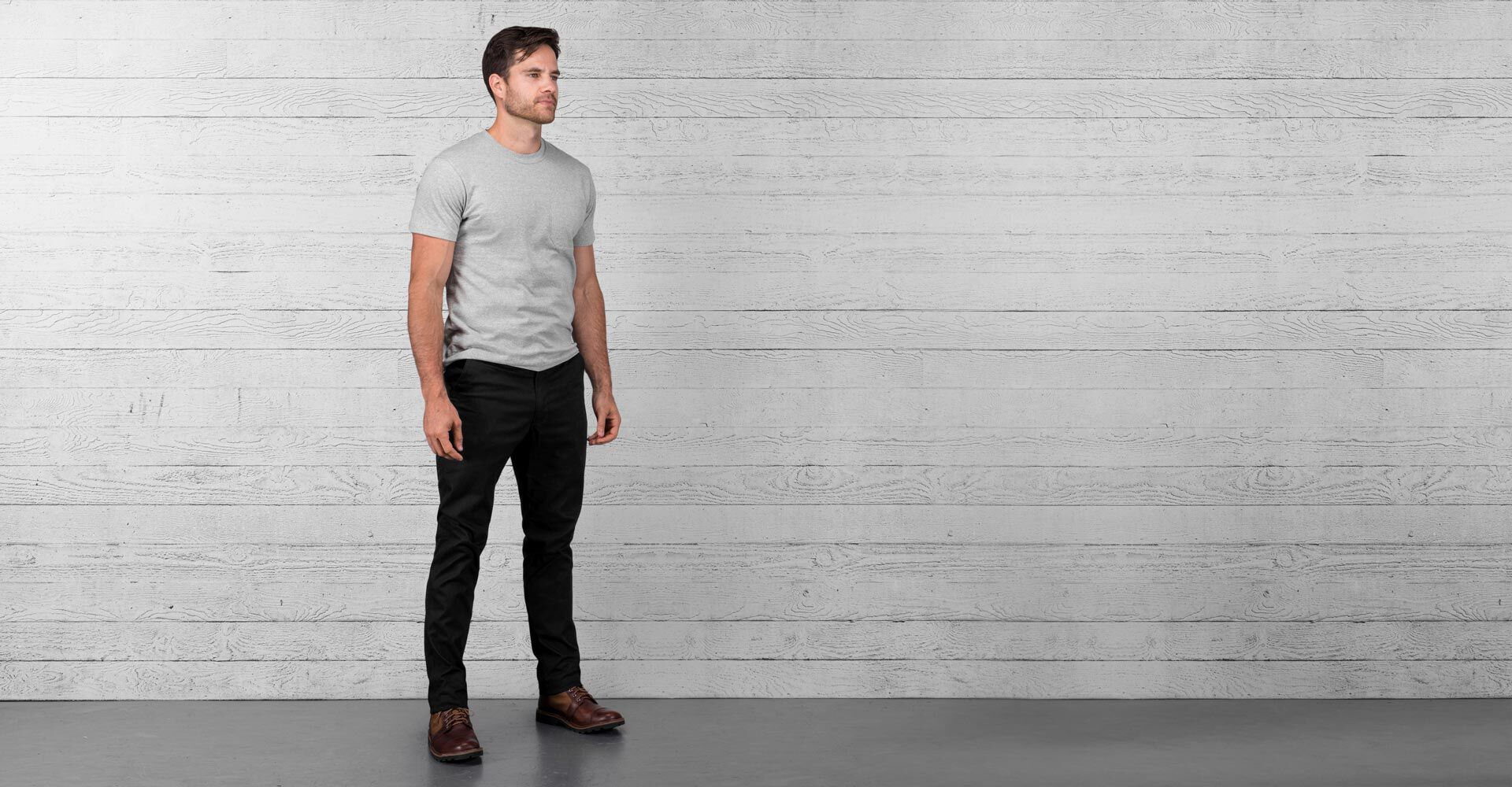 Rivington Chino Pant in Black - wide view.