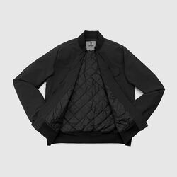 Utility Bomber Jacket in Black - small view.