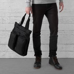 MXD Pace Tote Bag in All Black - large view.