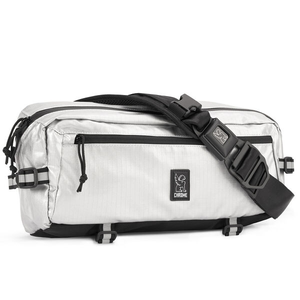 Kadet Nylon Sling Bag in Chromed / Aluminum - hi-res view.
