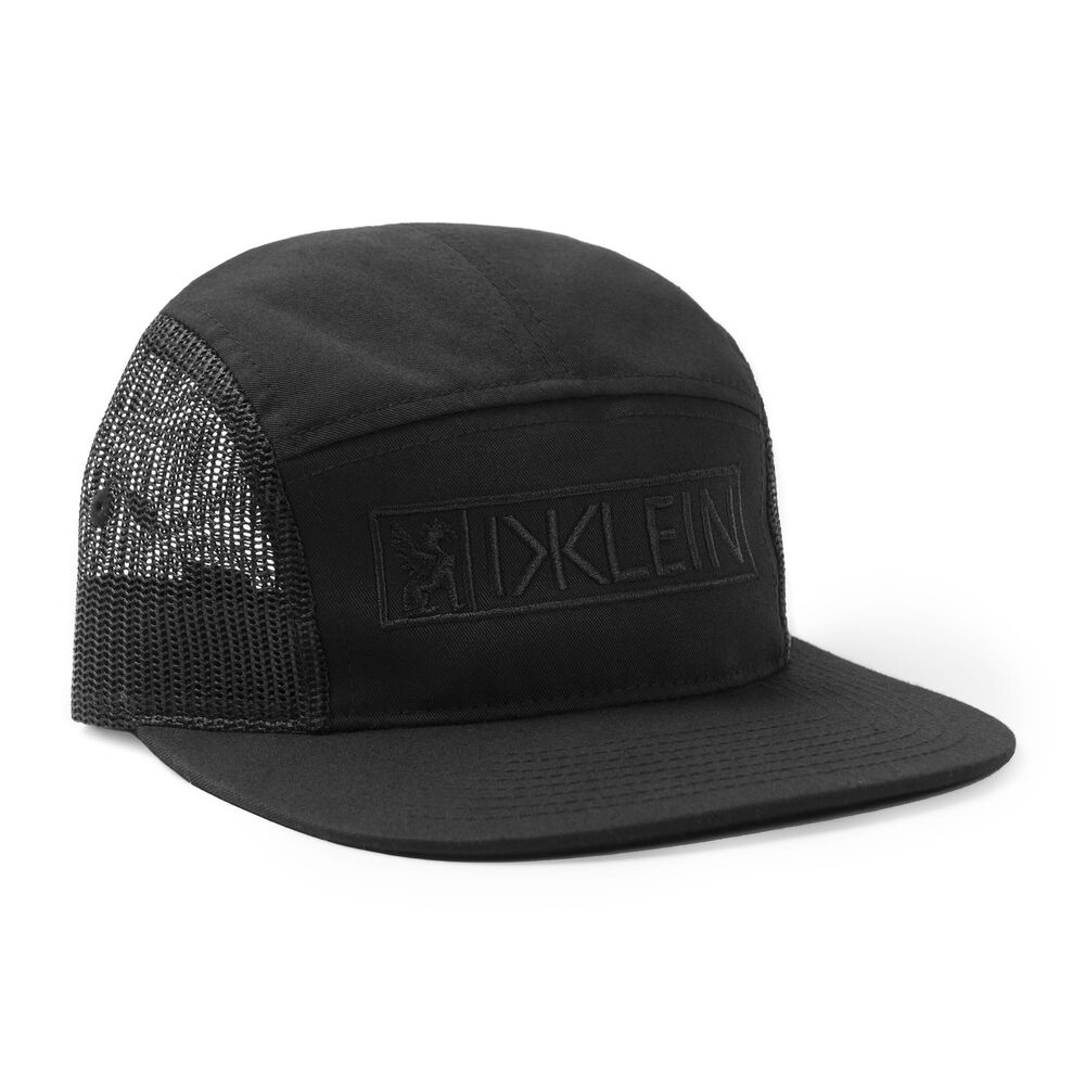 DKlein Five Panel Hat in Black - large view.