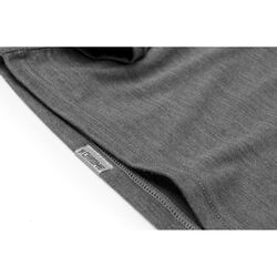 Merino Long Sleeve Hoodie in Charcoal  - small view.