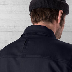 Blake Cycling Trucker Jacket in Midnight - wide-hi-res view.