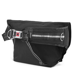 Mini Metro Messenger Bag in Black / Red - hi-res view.