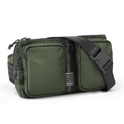 MXD Notch Sling Bag in Olive Ballistic - hi-res view.