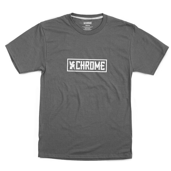 Horizontal Logo Tee in Charcoal / White Graphic - hi-res view.