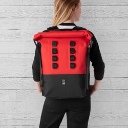 Urban Ex Rolltop 28L Backpack in Red / Black - hi-res view.