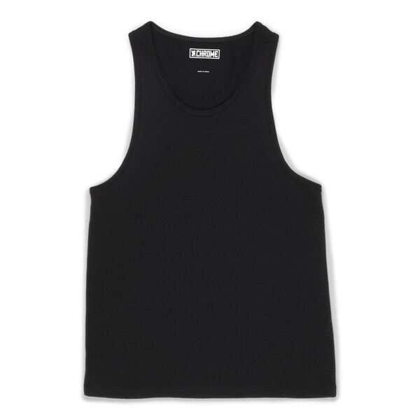 Women's Merino Tank Top in Black  - hi-res view.