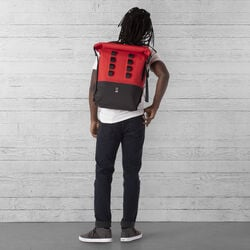 Urban Ex Rolltop 28L Backpack in Red / Black - large view.