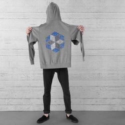 DKlein Graphic Hoodie in Heather Storm - large view.