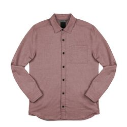 Stretch Chambray Workshirt in Andorra / Dune - hi-res view.