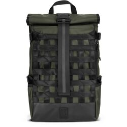 Barrage Cargo Tarp Backpack in Olive Tarp - hi-res view.