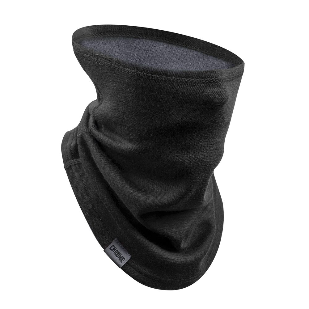 Merino Gaiter in Black / Dark Shadow - large view.