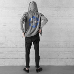 DKlein Graphic Hoodie in Heather Storm - small view.