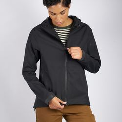 Women's Storm Salute Commute Jacket in Black - hi-res view.