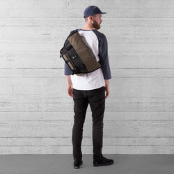 The Welterweight Mini Metro Messenger Bag in Ranger / Black - wide-hi-res view.
