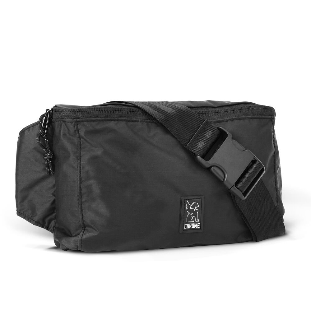 Packable Waistpack in Black - hi-res view.