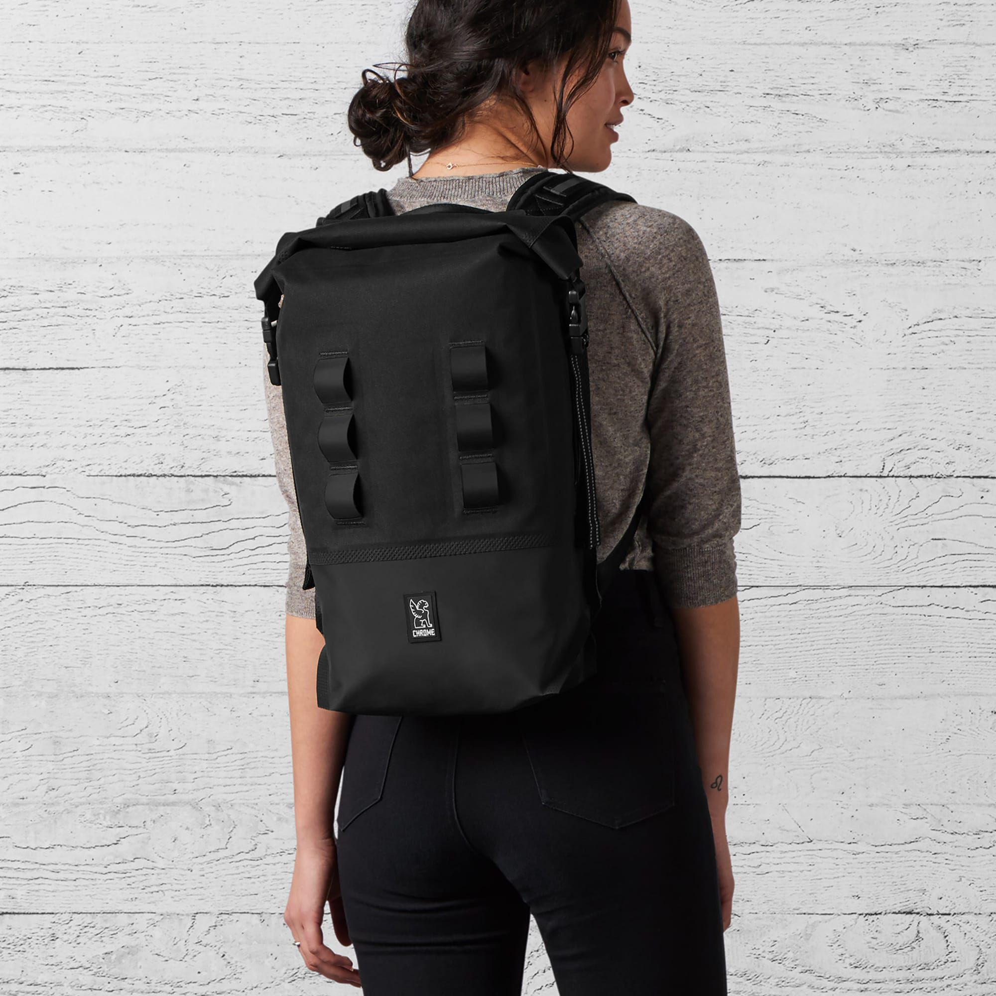 Urban Ex Rolltop 18l Backpack In Black Small View