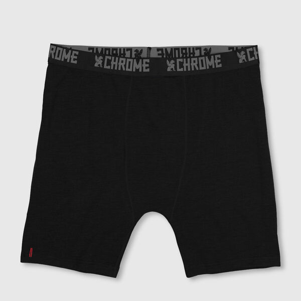 Merino Wool Boxer Brief - Final Sale in Black - medium view.