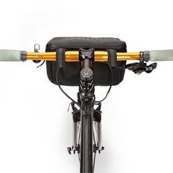 Helix Handlebar Bag in Black - hi-res view.
