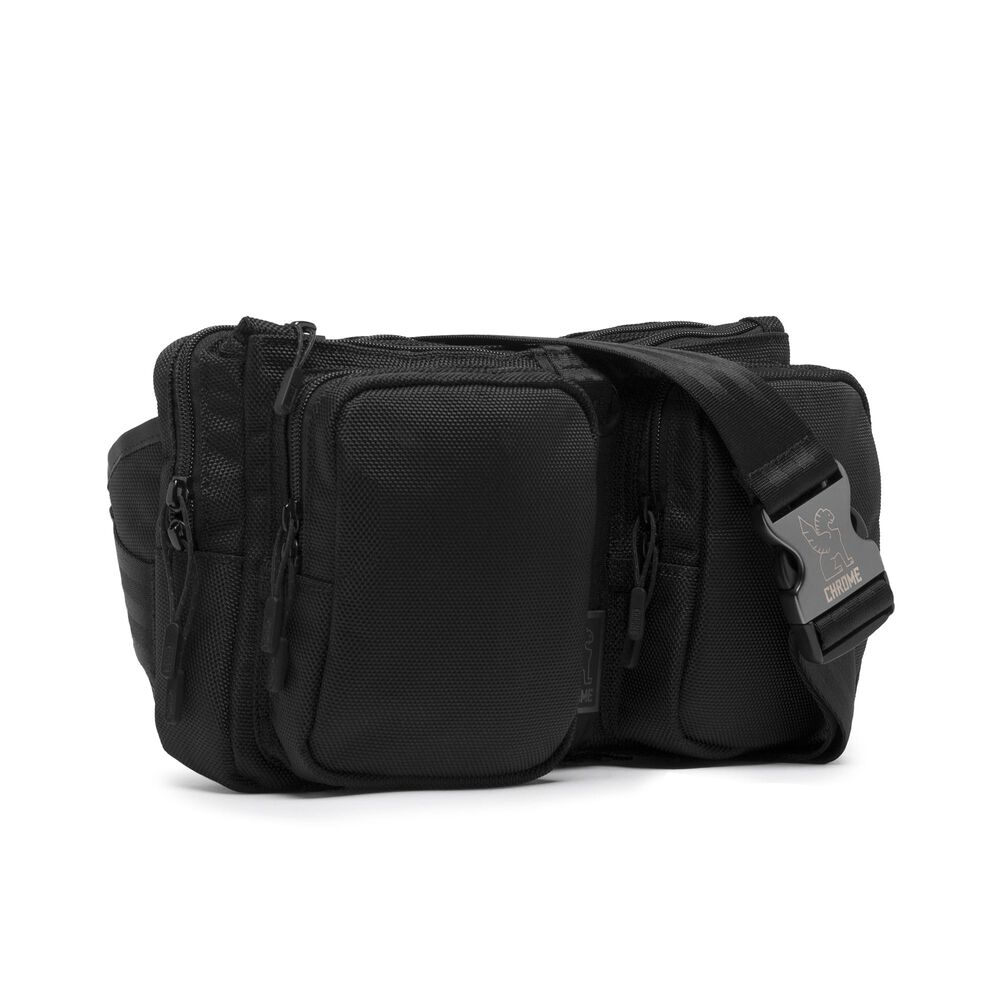 MXD Notch Sling Bag in All Black - large view.