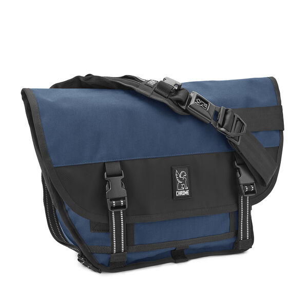 Mini Metro Messenger Bag in Navy - medium view.